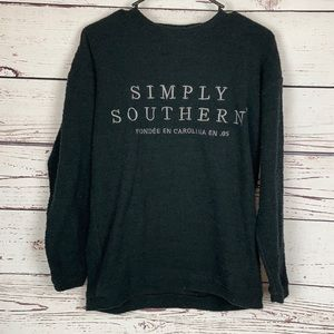 Simply Southern Black Oversized Pullover Sweater